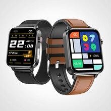 """2021 חדש חכם שעון גברים Smartwatch אנדרואיד iOS Bluetooth IP68 עמיד למים אק""""ג דם לחץ גוף טמפרטורת ניטור"""