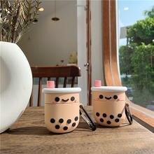 Милый чехол с пузырчатым молочным чаем для airpods 1 2 наушников