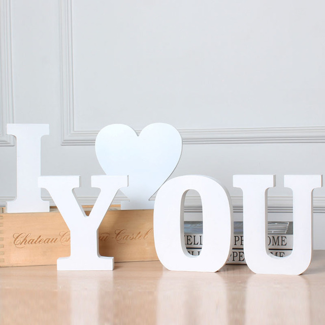 Home Decor Letters Decorative Wooden Letters 3D Letters Wall Letter for Children lamp letters Girls Bedroom Wedding Birthday 2