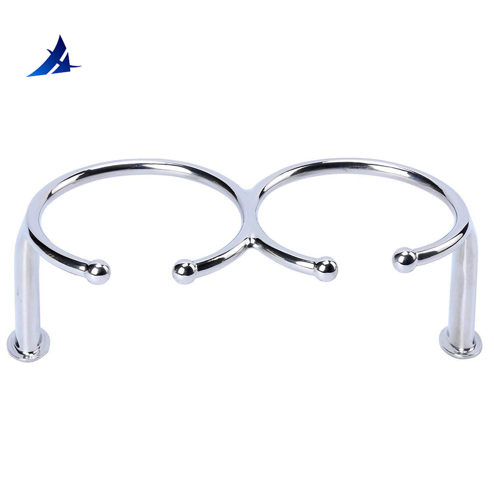 Boat Accessories Marine Boat Rv Camper Polished 316 Stainless Steel Double Ring Cup Drink Holder