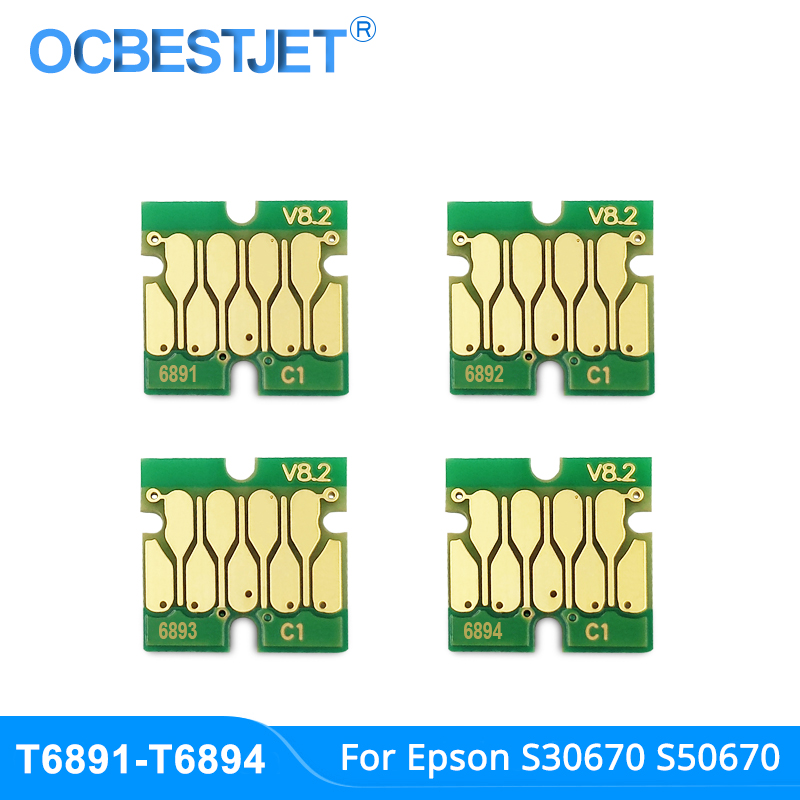 New Upgrade T6891-T6894 T6891 Cartridge Chip For <font><b>Epson</b></font> SureColor <font><b>S30670</b></font> S50670 S30675 S50675 Printer New Stable Chip 4Colors/Set image