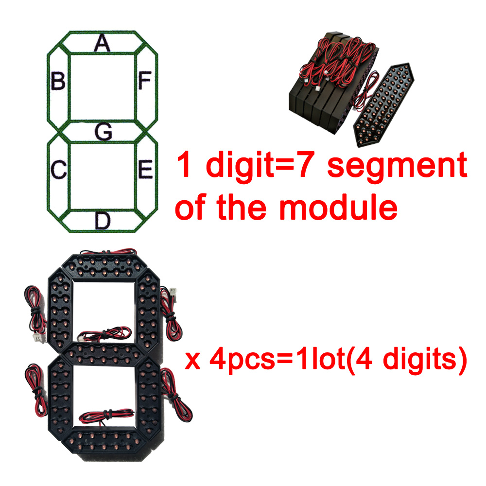 """Image 3 - 10"""" Red Color Digita Numbers Display Module LED Signs 7 Segment Of the Modules, 7 Segment LED Gas Price Module-in LED Displays from Electronic Components & Supplies"""