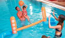 Inflatable swimming pool toy inflatable floating volleyball rack water volleyball net adult water game floating volleyball