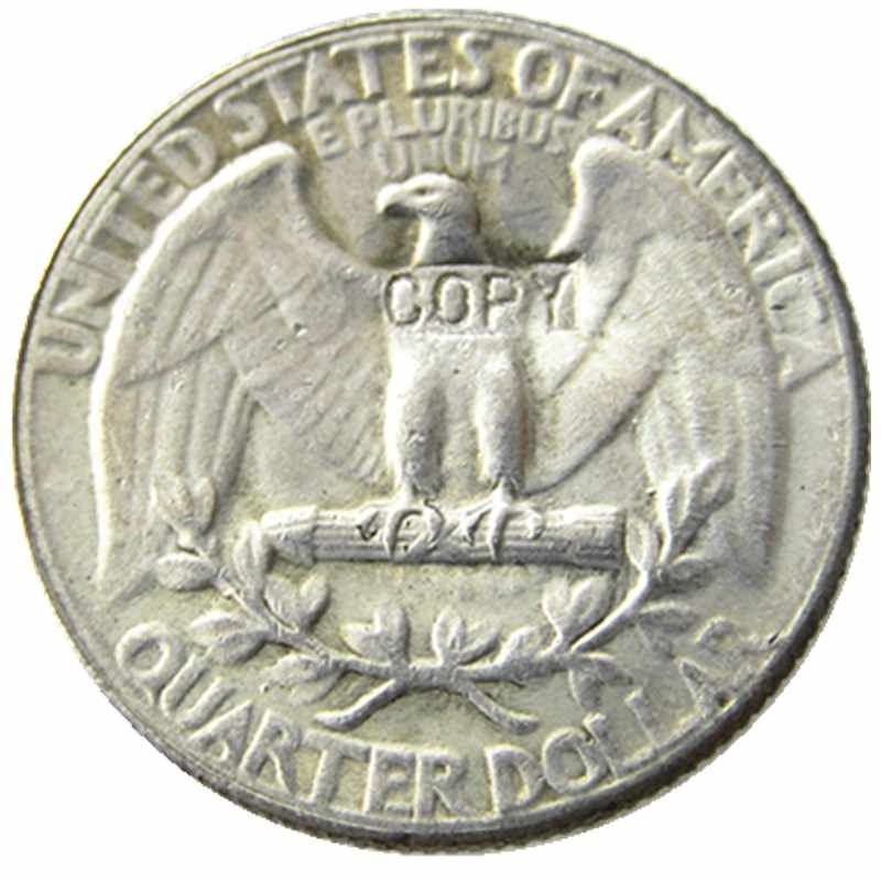 W (10) Hobo 1936 Washington Quarter Dollar Schedel Zombie Skeleton Hand Gesneden Verzilverd Kopie Munten