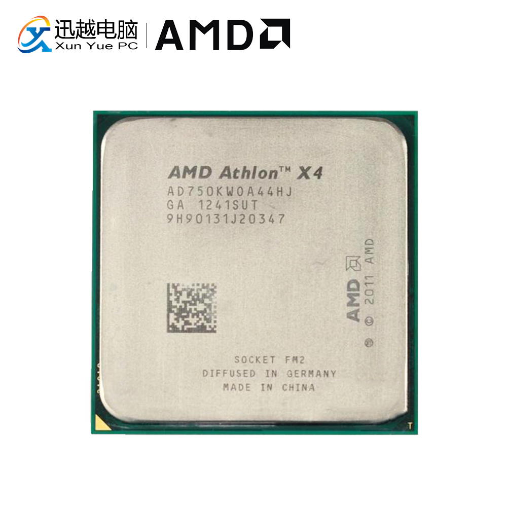 AMD Athlon II X4 750K Desktop Processor Quad Core 3.4GHz Socket FM2 4MB 750K Used CPU|  - title=