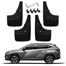 Lfopp-guardabarros de coche para Tucson NX4 2021, guardabarros trasero y delantero, protectores de salpicaduras, deflector, piezas exteriores, negro