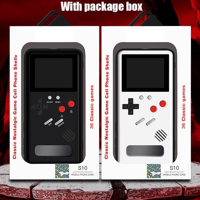 S20 Ultra S10 Note 10 Plus Gameboy Coque rétro 3D avec 36 petit jeu pour Samsung Galaxy S20 S10 Note 10 + S20 Pro Coque Phonecase