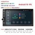 2G di RAM Android 10 Auto Radio Quad Core 7 Pollici 2DIN Universale Auto NO lettore DVD GPS Audio Stereo unità di testa di Sostegno DAB DVR OBD BT-in Lettore multimediale per auto da Automobili e motocicli su