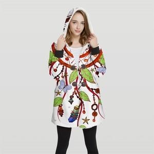 Image 3 - 2019 chaqueta Bomber de talla grande con capucha Convertible con estampado 3d para mujer, 100% Tops de poliéster, chaqueta suave para mujer, diseño al cliente Wy23