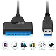 цена на USB 3.0 to SATA7+15pin Hard Disk Cable Converter 2.5 Inches SSD HDD Hard Disk SATA Adapter Cable Converter