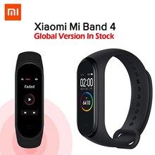 EM ESTOQUE Original Xiaomi Mi Banda 4 Música Inteligente Miband Pulseira Heart Rate 4 Aptidão Cor 135mAh Bluetooth Tela 5.0 pulseiras