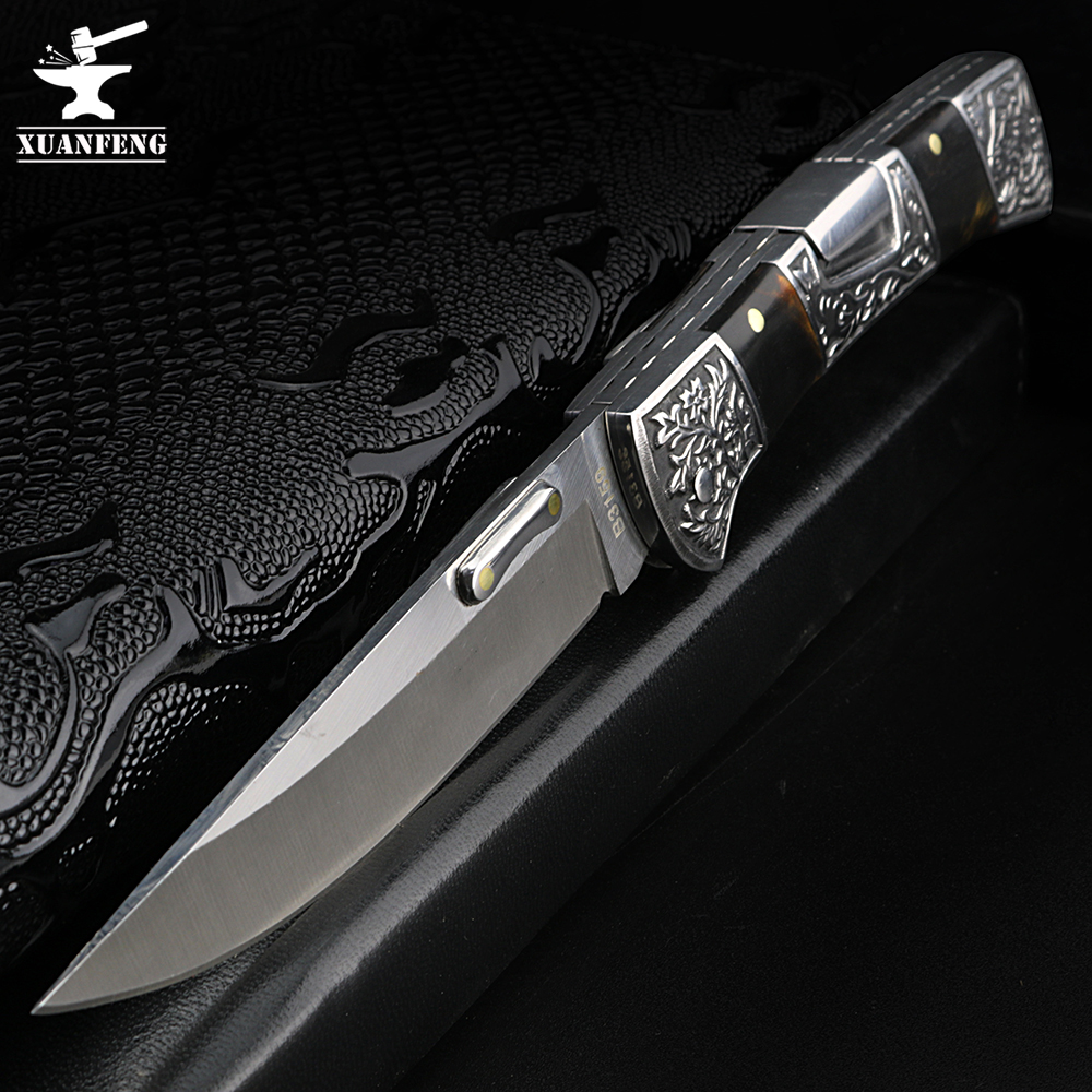 XUAN FENG Field Folding Knife High Hardness Sharp Tactical Knife Camping Hunting Short Knife Self-defense Tactical Knife