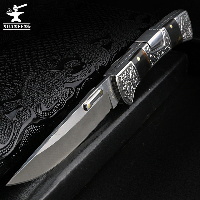 XUAN FENG field folding knife high hardness sharp tactical knife camping hunting short knife self defense tactical knife