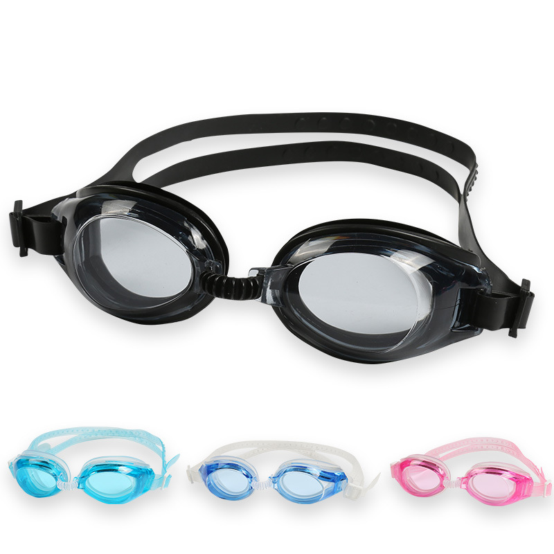 [Boxed Goggles] Adult High-definition Plain Glass Waterproof Anti-fog Glasses For Both Men And Women Profession Swimming Goggles