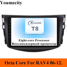 Youmecity samochodowy odtwarzacz dvd odtwarzacz multimedialny dla Toyota RAV4 Rav 4 2007 2008 2009 2010 2011 2din Gps Wifi Rds Android 9.0 Carplay 8 rdzeni(China)