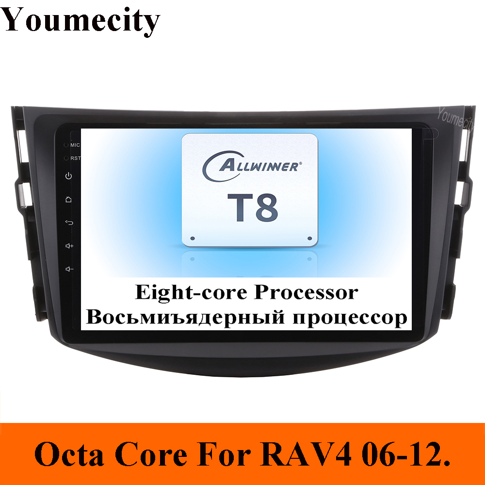 Youmecity Car Dvd Player For Toyota RAV4 Rav 4 2007 2008 2009 2010 2011 2 din 1024*600 car dvd gps wifi rds Android 9.0 Carplay-in Car Multimedia Player from Automobiles & Motorcycles