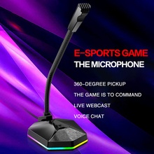 Professional USB Plug Gaming Microphone Stand for PC Computer Tabletop Condenser Mic game Live Broadcasting Conference Laptop HD tyless usb plug computer tabletop omnidirectional condenser boundary conference microphone for recording gaming skype voip call