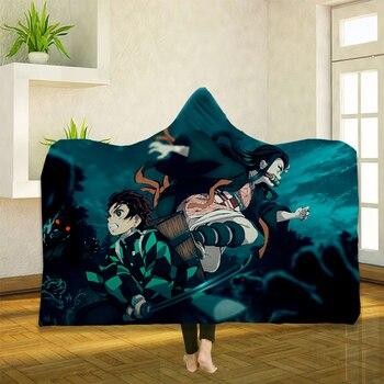 Anime Demon Slayer 3D Hooded Blanket 1
