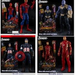 Супергерои Мстители могут говорить и сиять, Капитан Америка, Тор, Железный человек, Человек-паук, Халк, Съемная Кукла, подарок для детей
