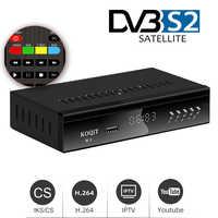 Koqit-decodificador K1 HD DVB S2, Receptor satélite, caja receptora de TV, buscador de satélite, reproductor de Internet, Iptv, m3u, Youtube, carcasa de Metal
