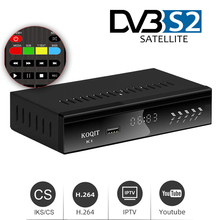 Koqit K1 HD DVB S2 Receptor Decoder free Satellite Receiver TV Box Satellite Finder Internet Player Iptv m3u Youtube Metal Case