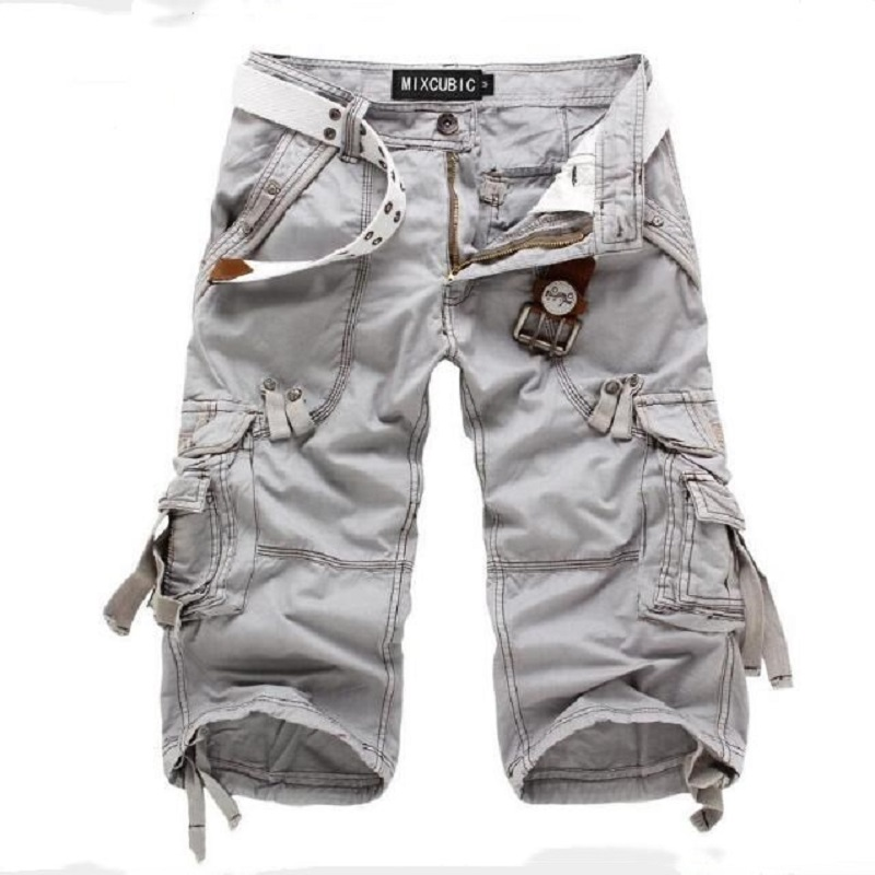 Hot DealsMen's Shorts Clothing Military Workout Army Summer Casual Pockets Multi-Pockets-Calf-Length