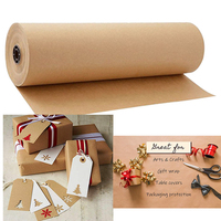 30 Meters Brown Kraft Wrapping Paper Roll For Wedding Birthday Party Gift Wrapping Parcel Packing Art Craft Origami Papier
