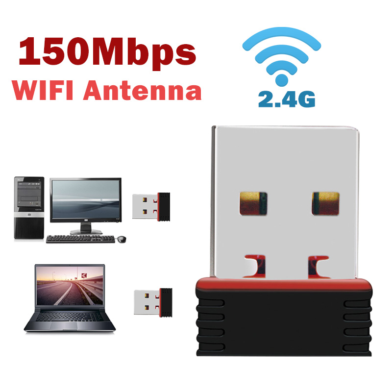 Usb Wifi Adapter Ethernet Lan Wireless 802.11n Laptop Dongle Card Antena Adaptador 2.4g  Wi Fi Receiver Wi-fi Mini Mbps
