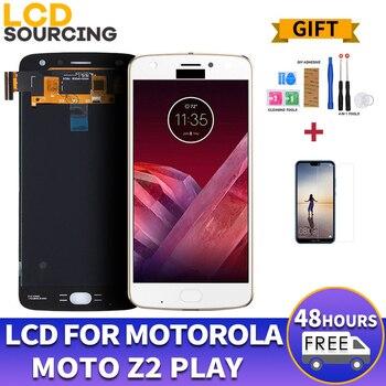 AMOLED ЖК-дисплей для Motorola Moto Z2 Play XT1710-01/07/08/10 1920*1080 кодирующий преобразователь сенсорного экрана в сборе Замена 5,5 дюймов
