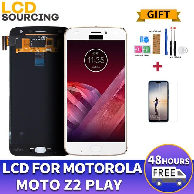 ЖК дисплей AMOLED для Motorola Moto Z2 Play XT1710 01/07/08/10 1920*1080, сенсорный экран с дигитайзером в сборе, замена 5,5 дюйма