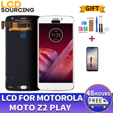 Motorola Moto Z2 용 AMOLED LCD 디스플레이 XT1710 01/07/08/10 1920*1080 터치 스크린 디지타이저 어셈블리 교체 5.5 인치