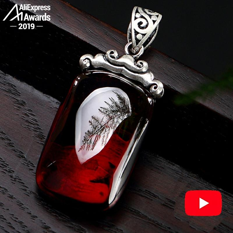 3.28 SALE S925 Fine Antique Store Ruby Pendant For Necklace Women Handmade Vintage Natural Carnelian Ruby  Red Jasper Red