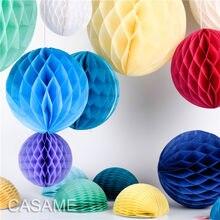 Lanterne décorative en papier à fleurs 1 pièce, boule en nid d'abeille, décoration de mariage, anniversaire enfant réception-cadeau, 4'' 6