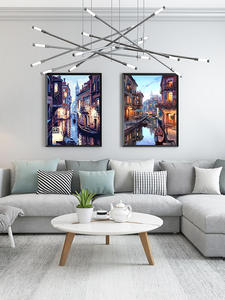SDOYUNO Diy-Painting Numbers-Kits Night-Landscape by for Home-Decor Venice