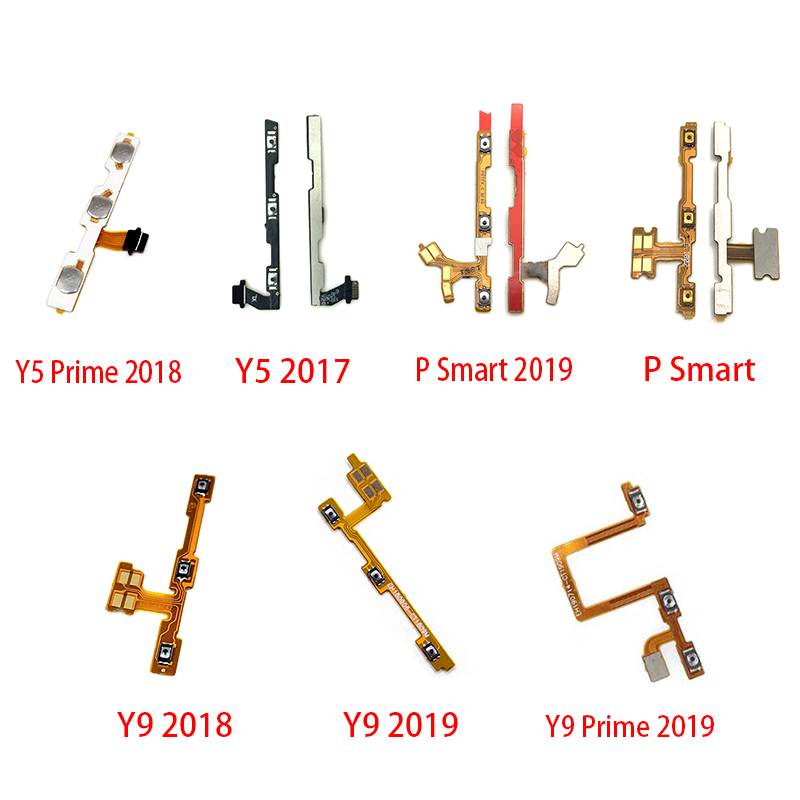 2pcs 100% New Power ON OFF Mute Switch Control Key Volume Button Flex Cable For Huawei Y5 Y6 Y7 Pro Y9 Prime 2017 2018 2019
