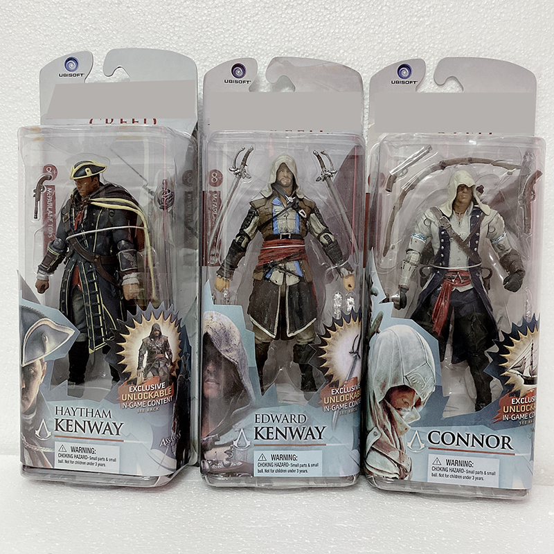 15cm Creed Series 4 Connor Haytham Edward Kenway Mohawk Action Figure Collectable Model Toy