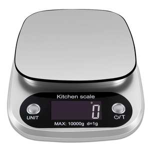 Scale 10kg Multifunction-Weight-Scale Baking Digital Kitchen Silver Electronic Lcd-Display