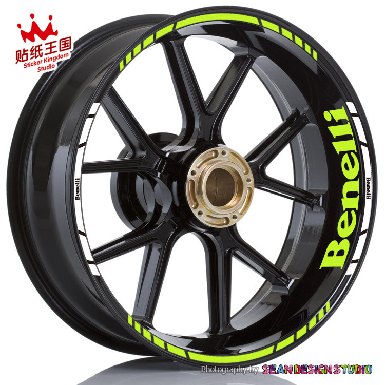For Benelli BN 300 302 600 Leoncino 500 TRK502 TNT899 1130 Motorcycle Wheel Sticker Reflective Rim Bike Decal
