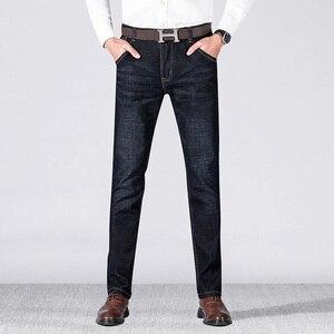 Image 3 - 2019 jesień wiosna w połowie wagi mężczyźni Casual Biker dżinsy Stretch spodnie dżinsowe solidne dopasowane jeansy rurki męskie spodnie uliczne typu Skinny