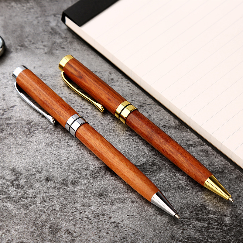 1PC New Luxury Business Rollerball Pen Sign Pen Wood Rotate Ballpoint Pens For Student Gift Pen School Stationery Supplies 03742
