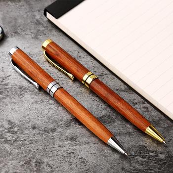1PC nowy luksusowy biznes pióro kulkowe pisak do kaligrafii drewna obróć kulkowe długopisy na prezent dla studentów pióro szkolne artykuły biurowe 03742 tanie i dobre opinie noverty YZB-03742 0 5mm Biuro i szkoła pen Luxury pen