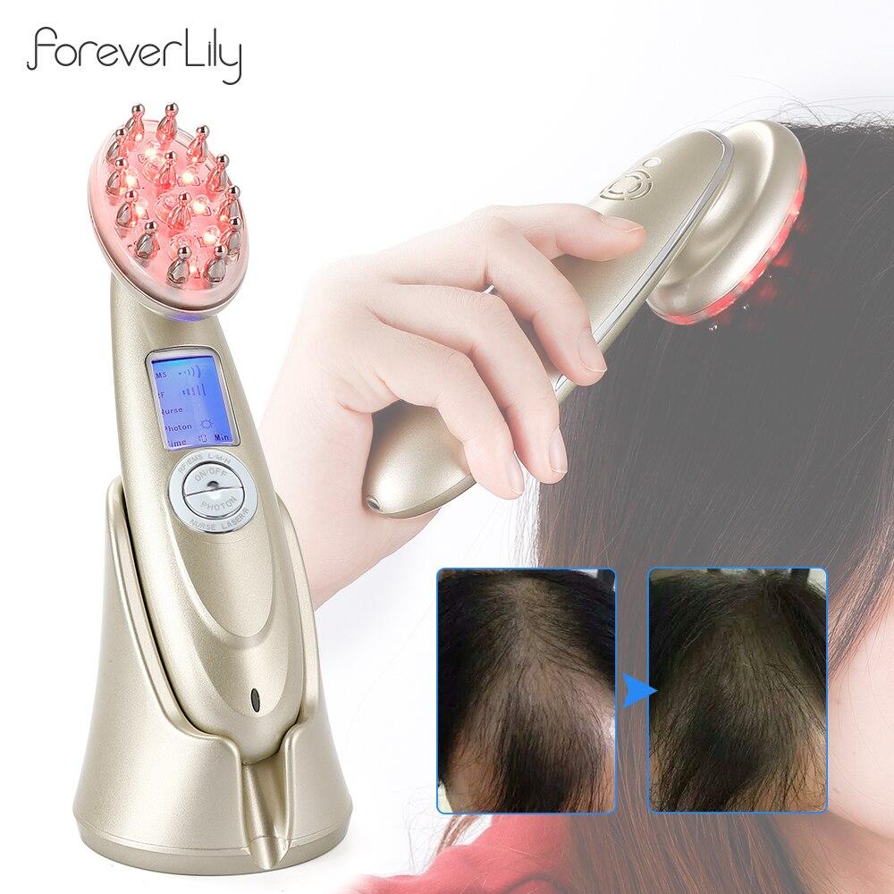 Электрическая лазерная расческа для роста волос, анти-выпадение волос, терапия, инфракрасный радиочастотный светодиодный светильник, нано-...