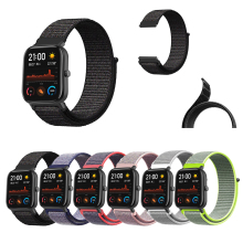 For Huami Amazfit GTS Band 20mm Ultra Soft Loop Nylon Canvas Replaceable Watch Strap Easy Remove Bracelet 20 mm