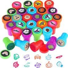 Stamp Rubber Self-Inking-Stamps Custom Kids Children Plastic for 10pcs Educational-Toys