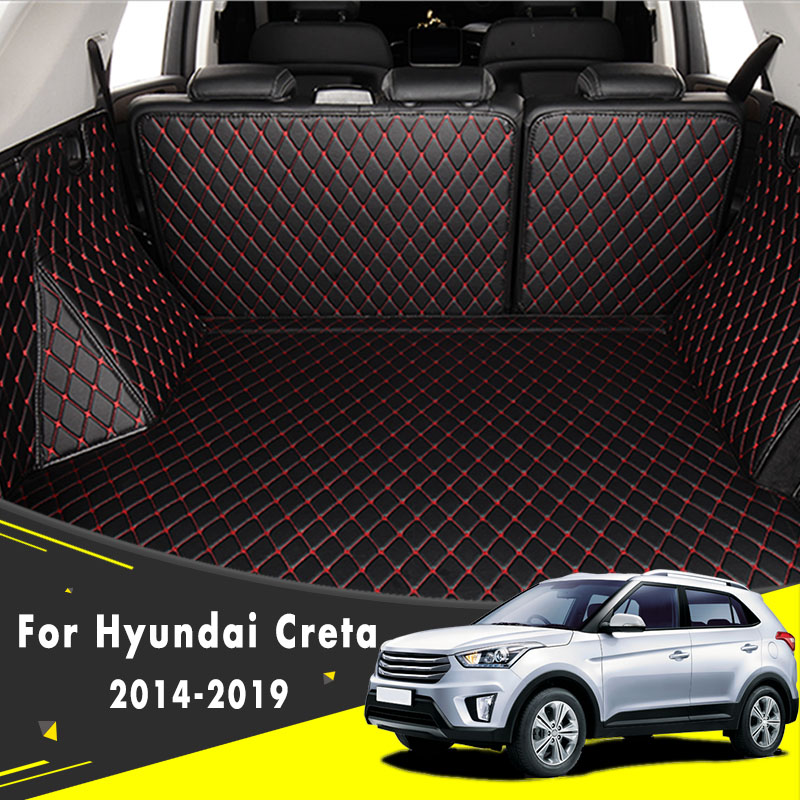 Car Styling Carpet Rugs Cargo Liners Custom Make Car Trunk Mat For Hyundai Creta Ix25 2014 2015 2016 2017 2018 2019