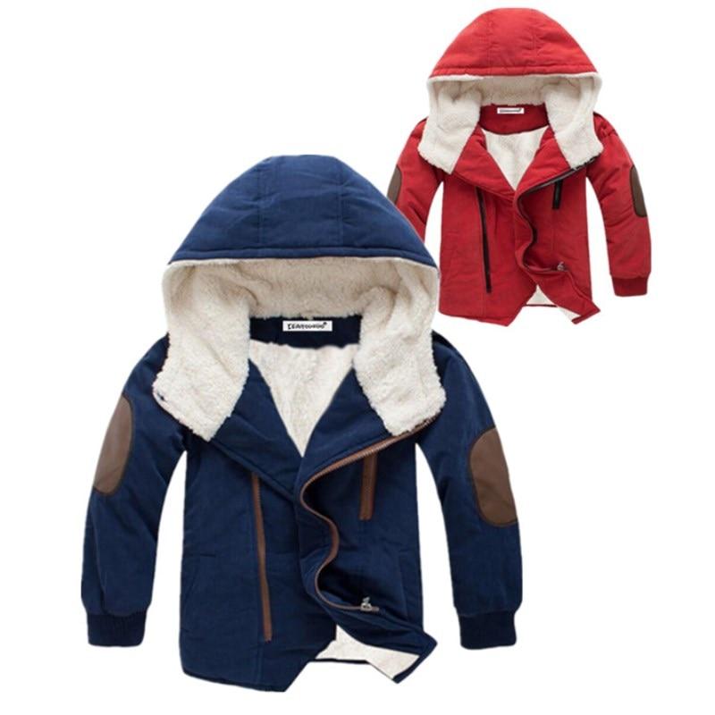 Jackets Coat Outerwear Hooded Warm Boys Kids Winter Long-Sleeve for Children 3-12-Years