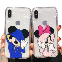 Cute Mouse Phone Case for iPhone 11 Pro MAX X XR 11Pro Comics Soft Silicon