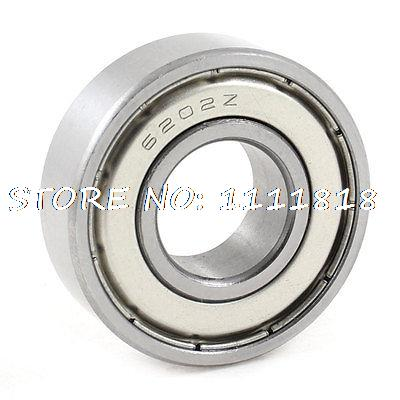 "1.4"" Outer Diameter 6202Z Radial Shielded Metal Deep Groove Ball Bearing"