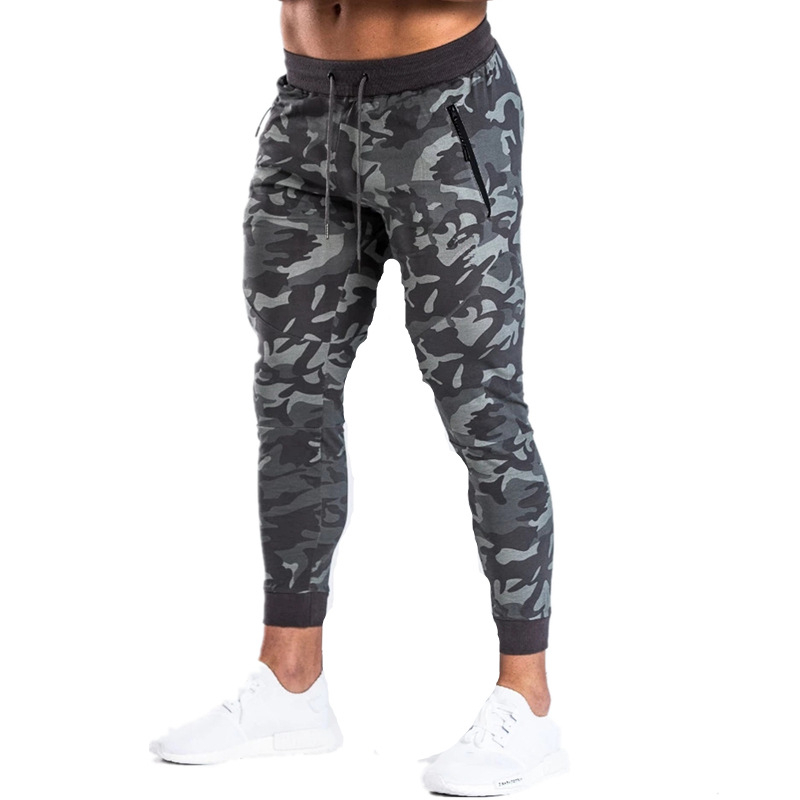 New Men's Camouflage Sweatpants Fitness Joggers 2019 Autumn Male Fashion High Street Hip Long Trousers Harem Pants Sweatpant