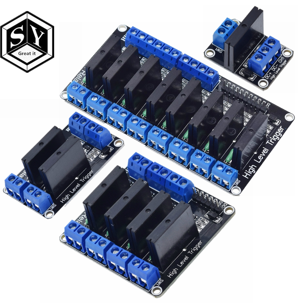 5V Relay 4 Channel High Low Level Solid State Relay Module 250V 2A